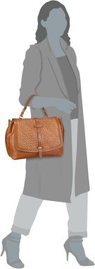 The Bridge Salinger Handtasche 1327 - Cognac (innen: Gelb)