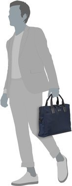 HUGO Capital Single Document Case 379654 - Dark Blue