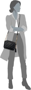 Michael Kors Ginny Medium Camera Bag Flora Quilted - Black