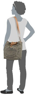 Campomaggi Lambro Canvas Bag Small - Militare/Naturale